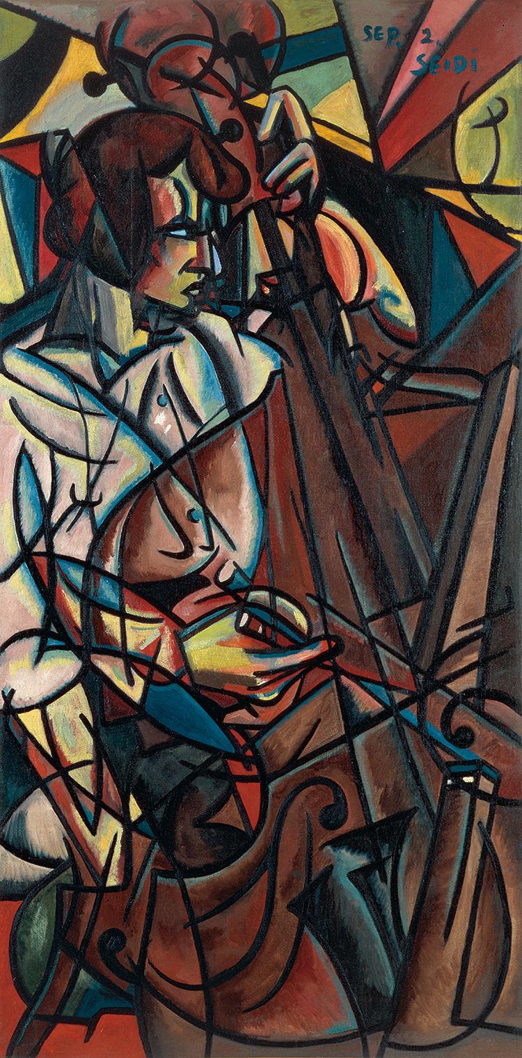 1915年、油彩・キャンヴァス、153×75.4cm