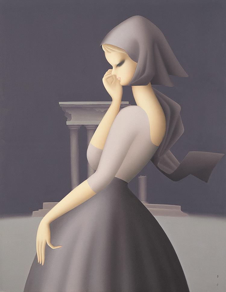 1959年、油彩・キャンヴァス、116.1×90.7cm、初出:第5回日本国際美術展(大衆賞)