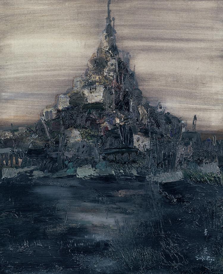 1970年、油彩・キャンヴァス、60.6×50.2cm、初出:東郷青児新作展(1972年)
